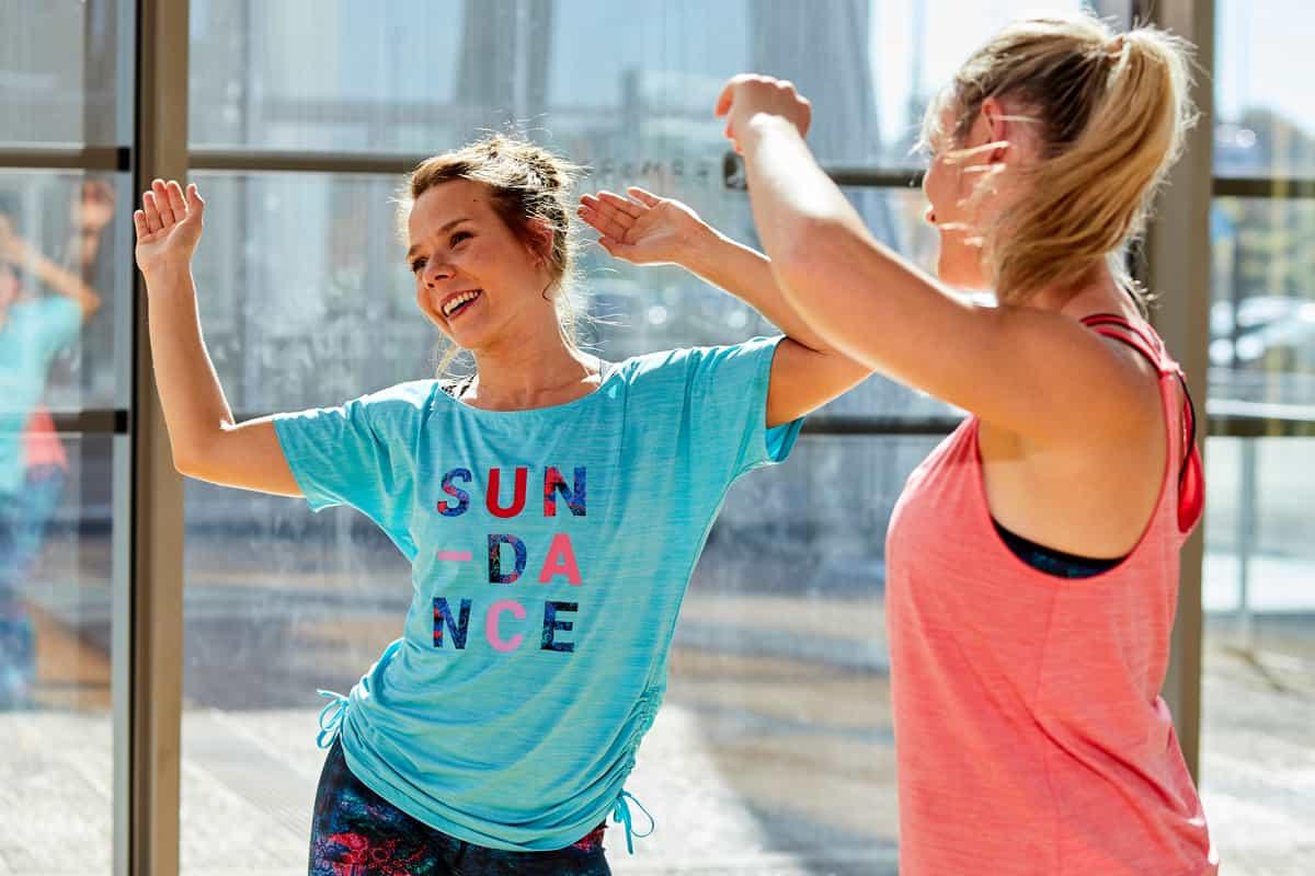 girls enjoying the dance