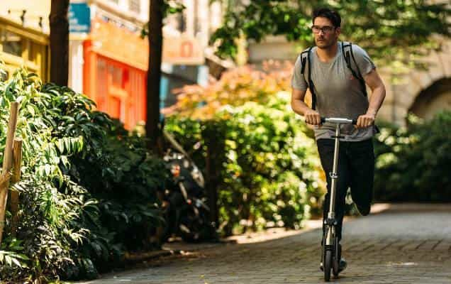 man roaming around in the city