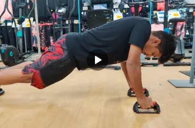 Push up wheel exercises by Himesh Mistry