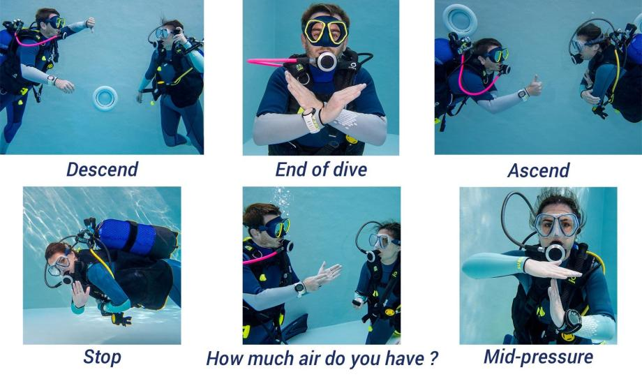 hand signs diving communication tips subea