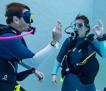 Hand Signs for Communicating while Diving