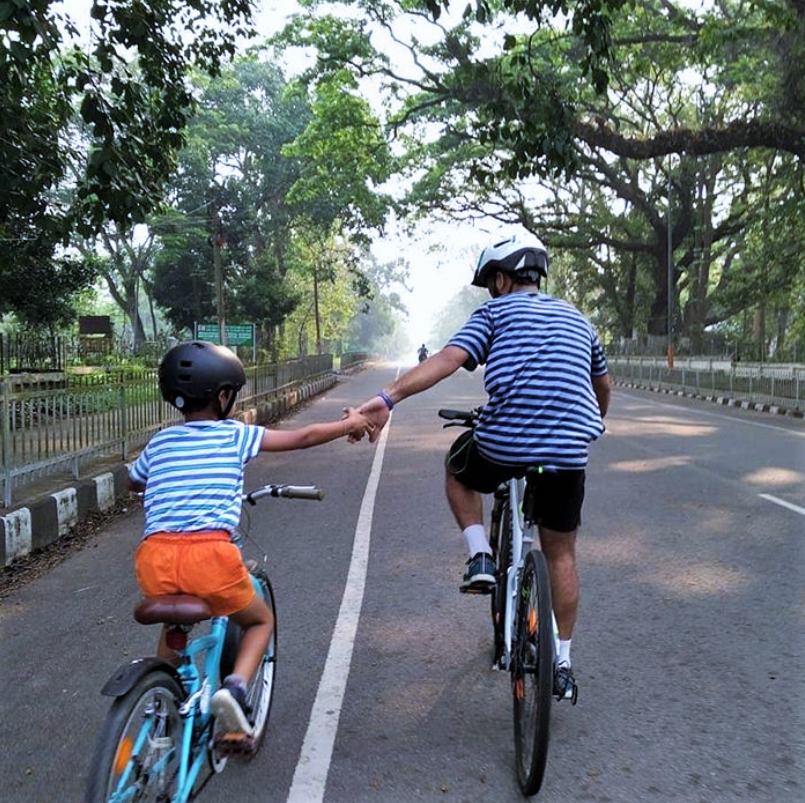 Santosh Kandwal - Cycling with Passion in Guwahati