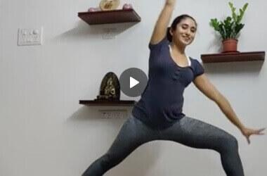 Surya Namaskar Yoga Session with Apsara Vydyula