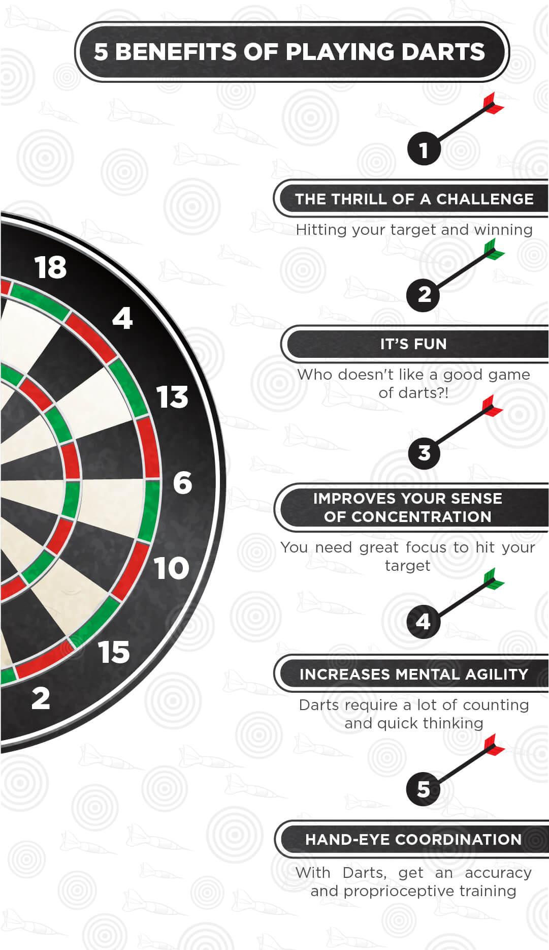 5 Benefits of Playing Darts