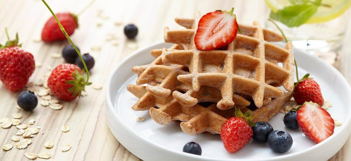 Simple & Easy Strawberry Protein Waffles Recipe