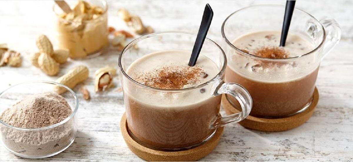 Chocolate-Peanut Protein Milkshake