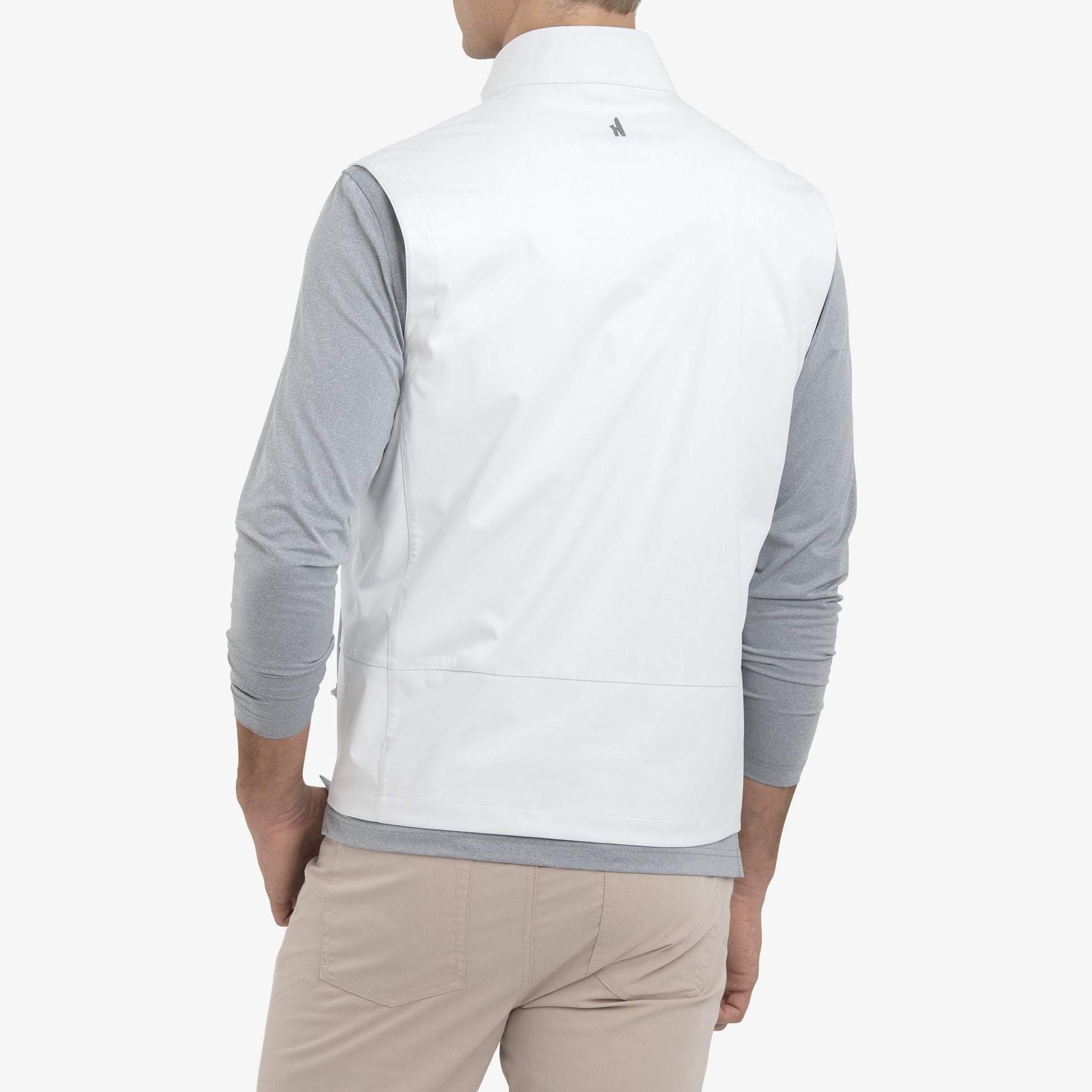 Crest 2-Way Zip Front Wind Vest (White)