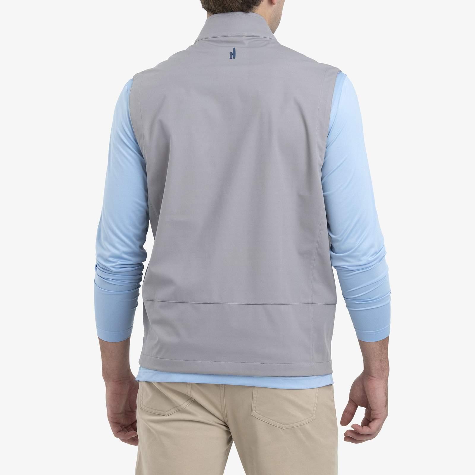 Crest 2-Way Zip Front Wind Vest (Steel)