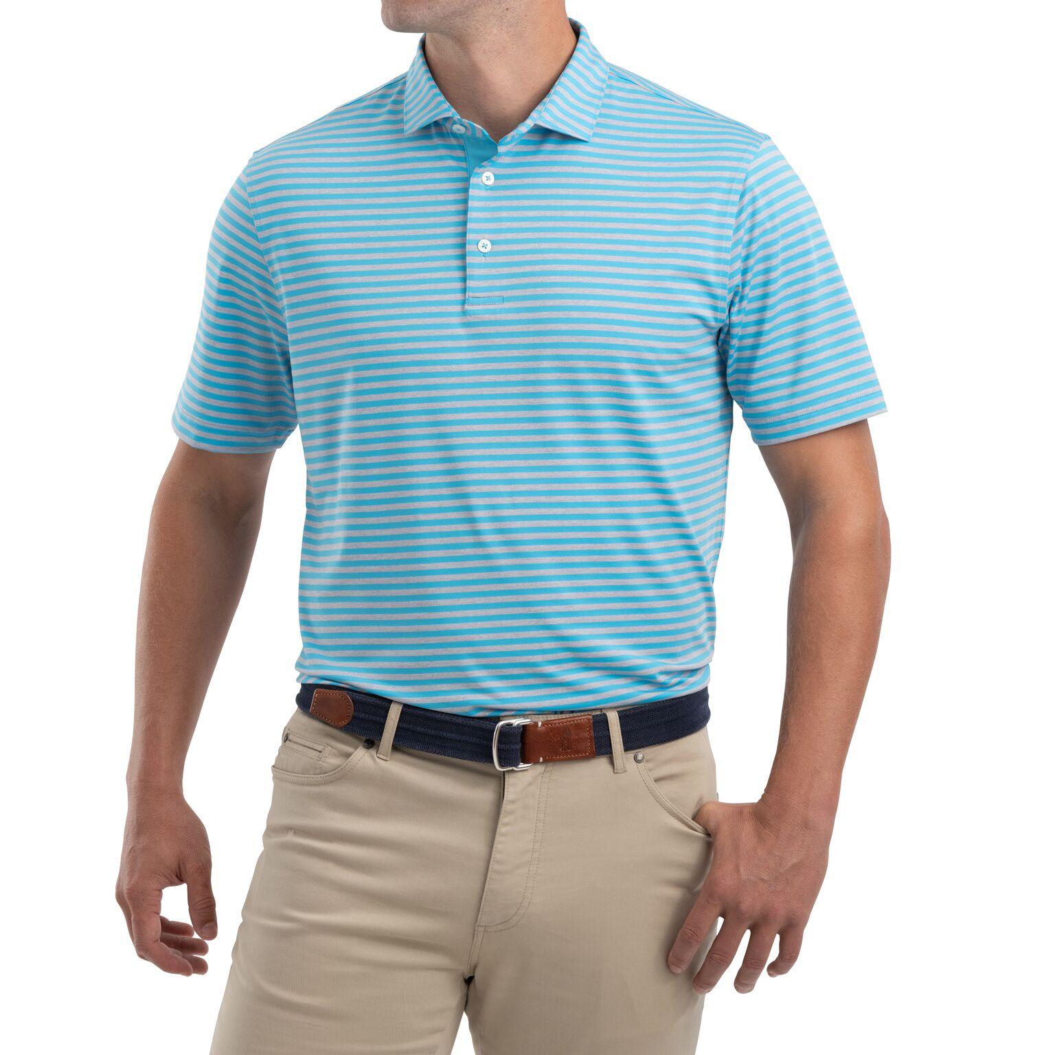 Smith Striped  PREP-FORMANCE Jersey Polo (Niagara)