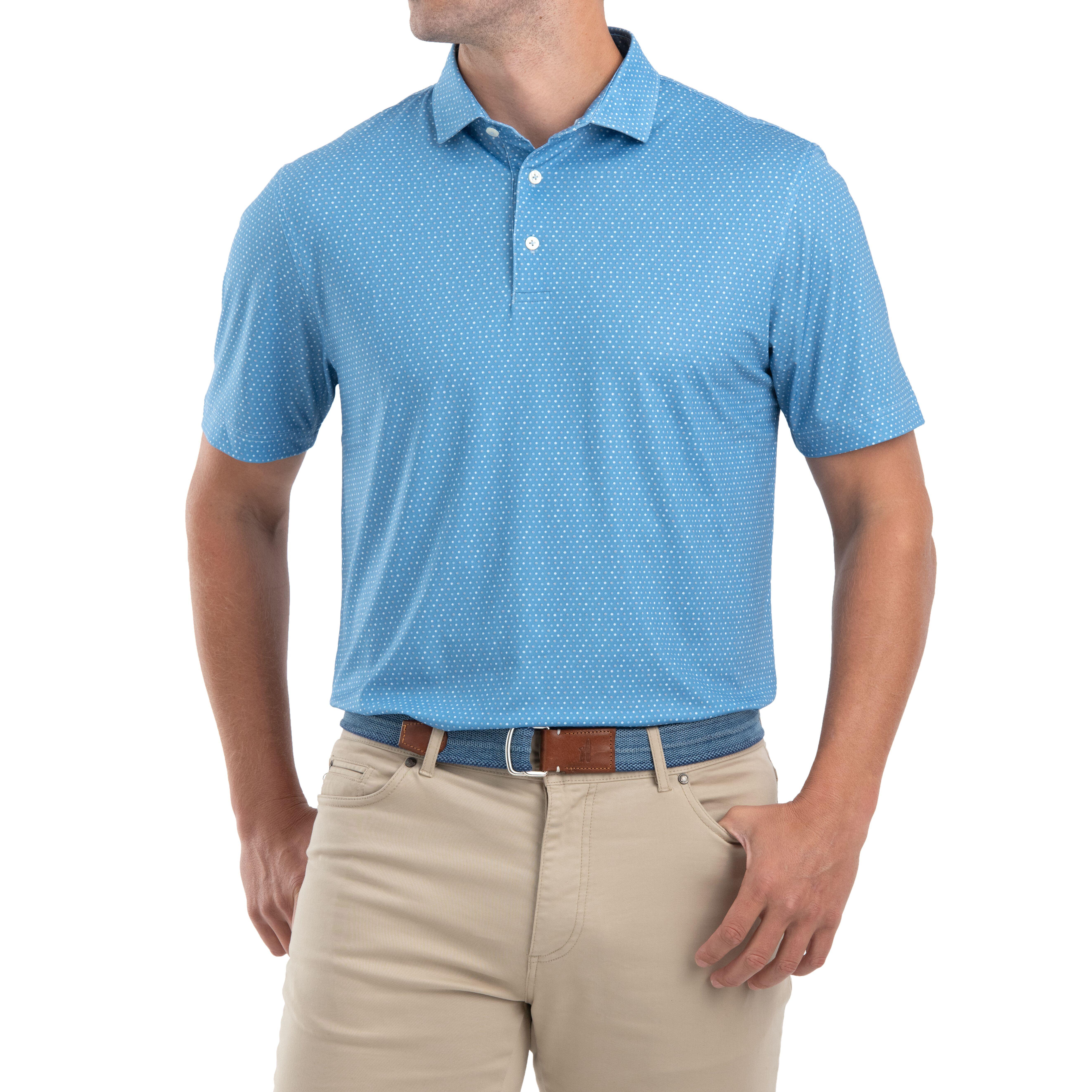 Burnett PREP-FORMANCE Jersey Polo (Neptune )