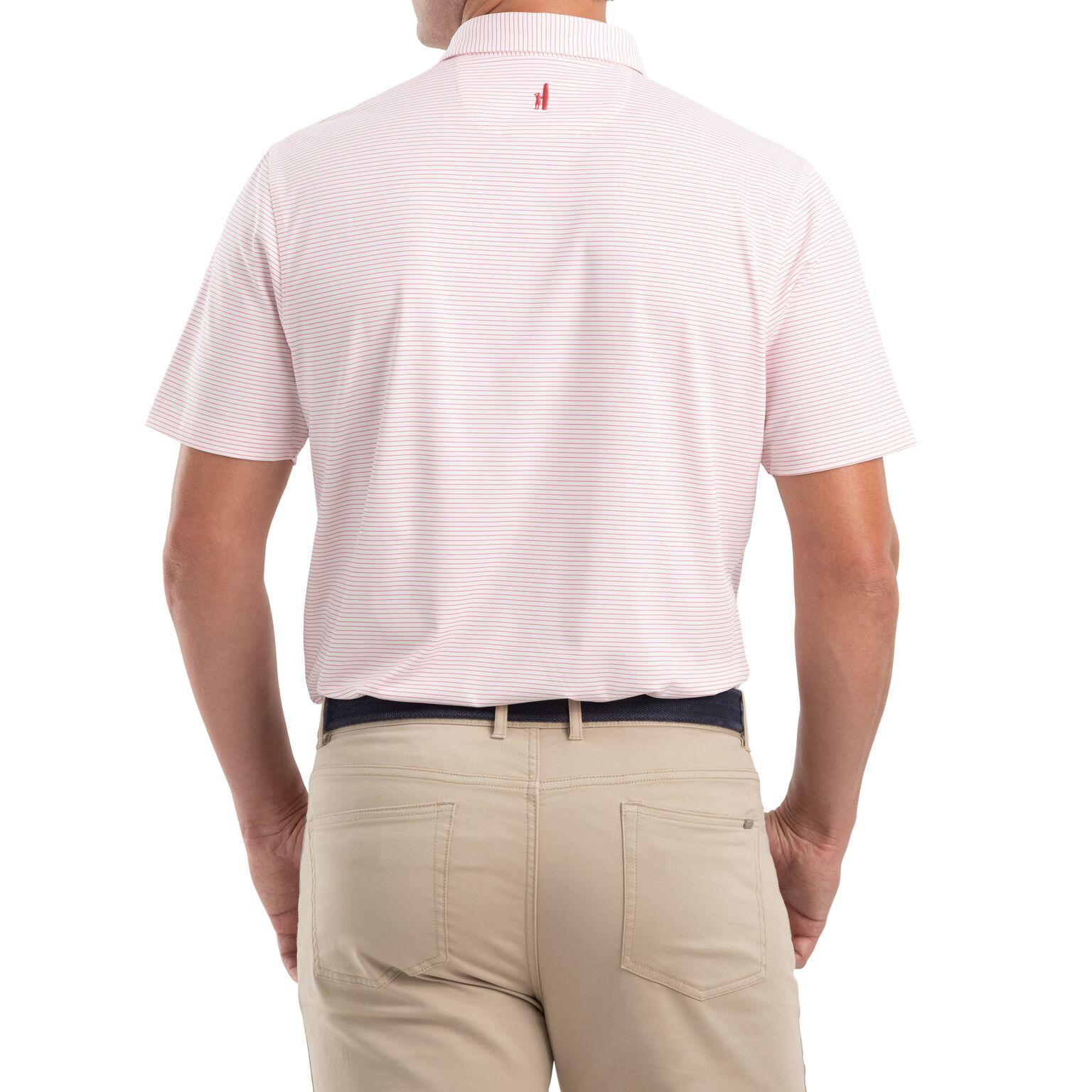Albatross Striped PREP-FORMANCE Jersey Polo (Strawberry)
