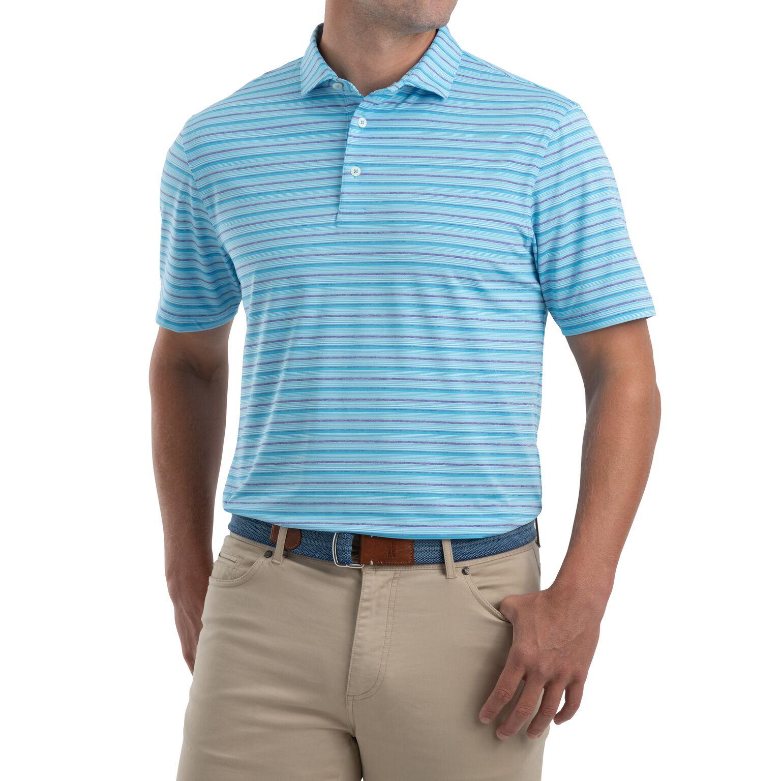 Kane Striped PREP-FORMANCE Jersey Polo (Niagara)