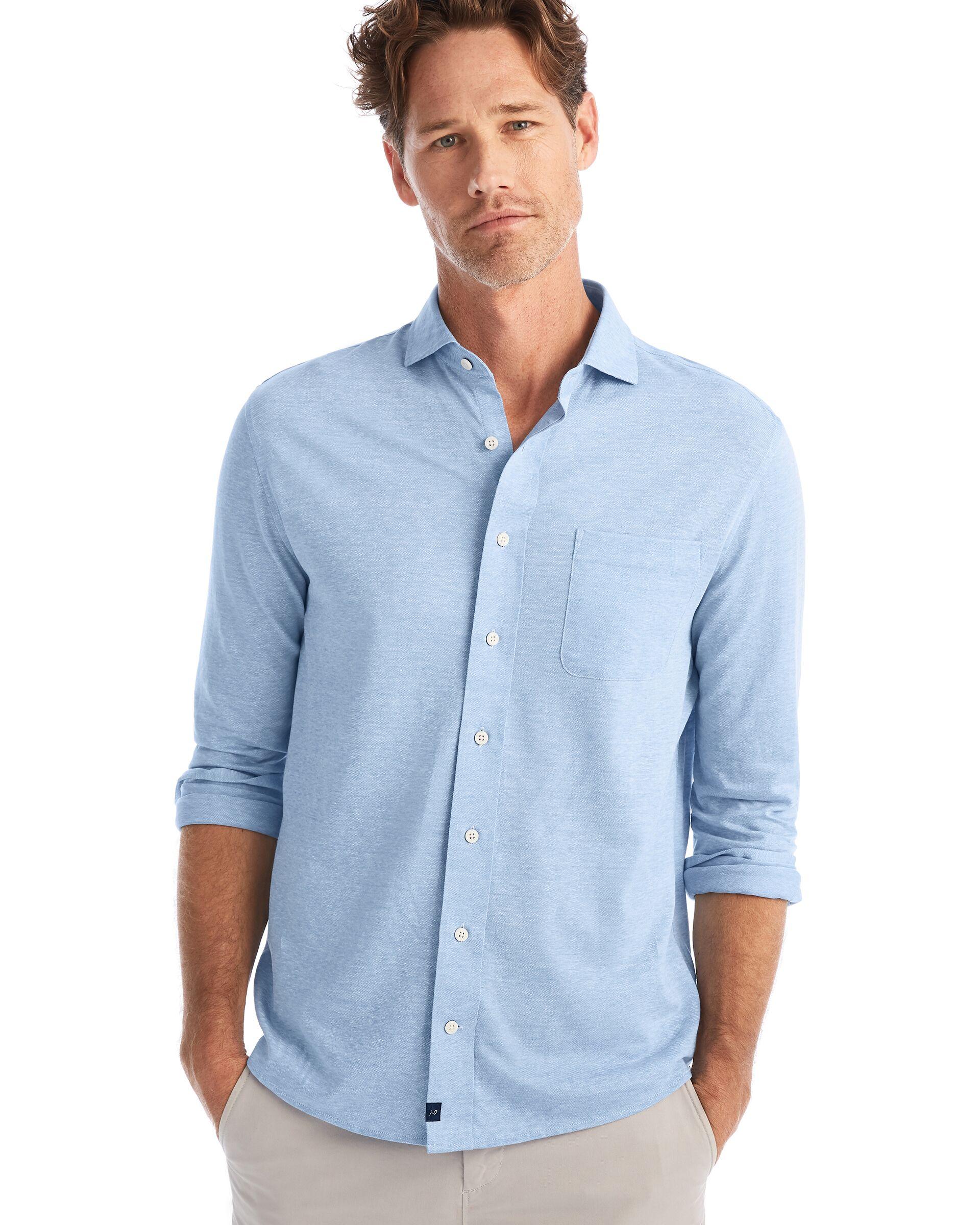 Hector Button Down Shirt (Gulf Blue)