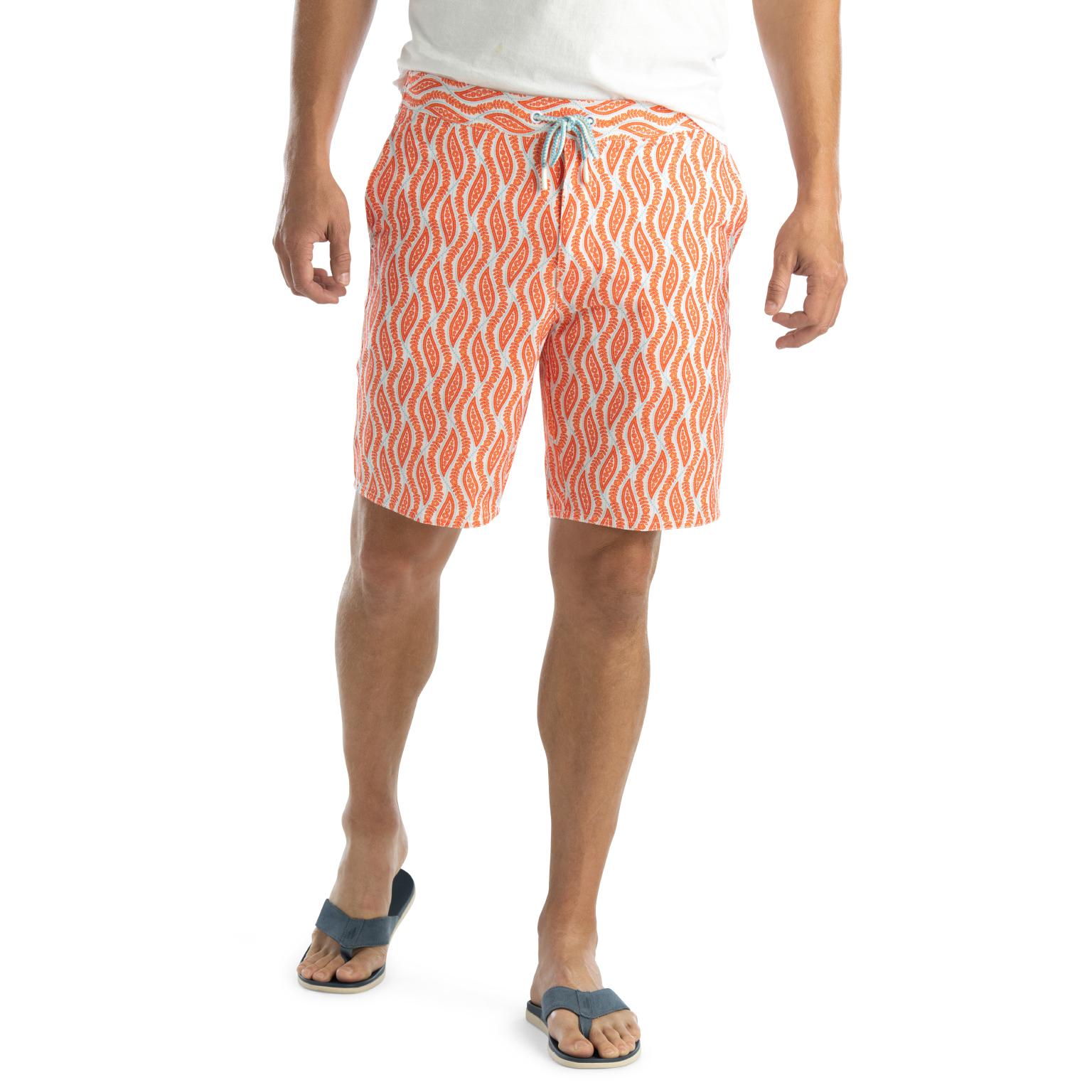 Tivoli Half Elastic Swim Shorts (Tang)