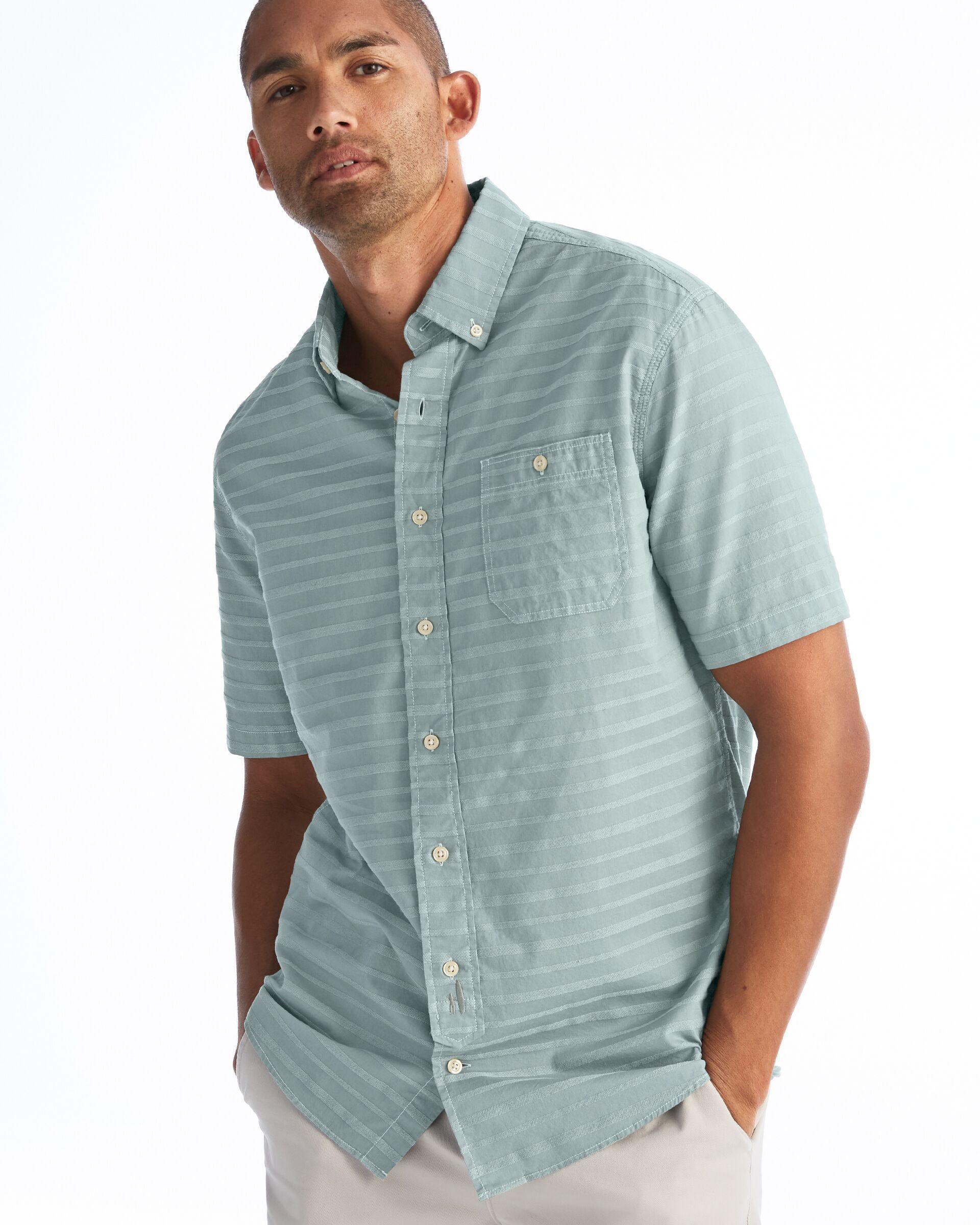 Raleigh Hangin' Out Spread Collar Short Sleeve Shirt (Avocado)