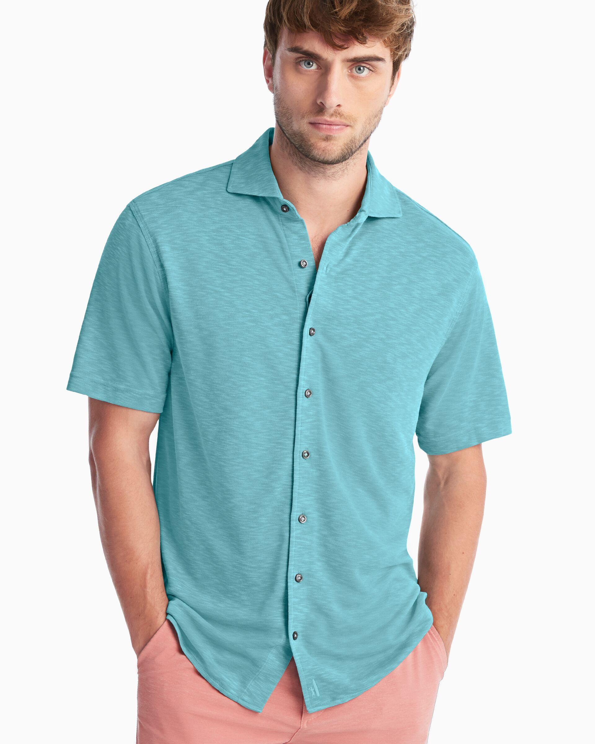 Stokes Prep-Formance Short Sleeve Button Down Shirt (Seafoam)