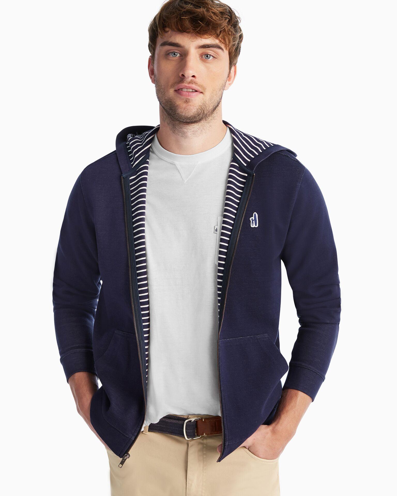 Burns Double Zip Hoodie Sweatshirt (Twilight)