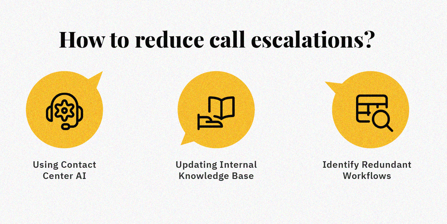 how to reduce call escalations in call center