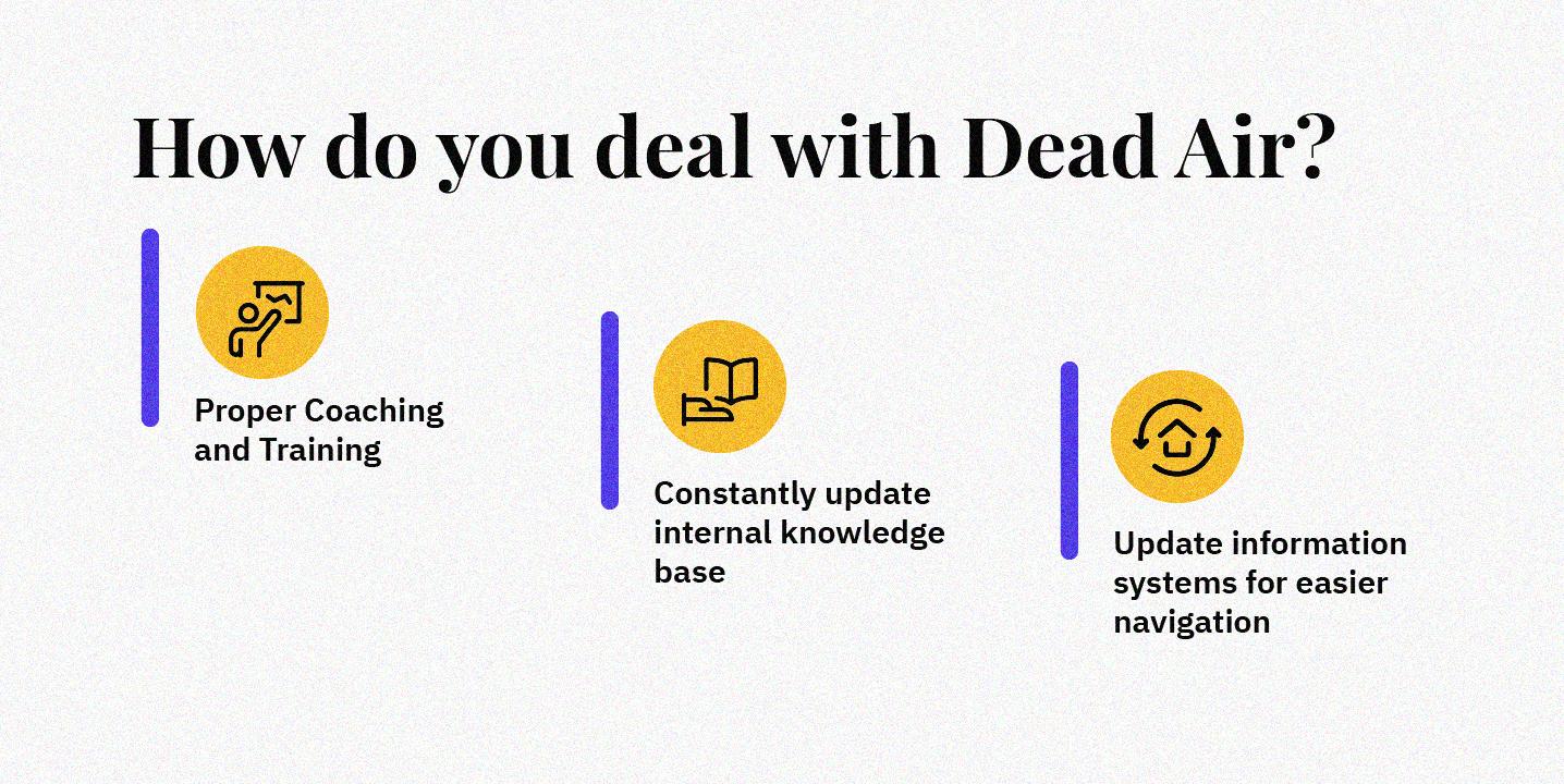 Best ways to avoid dead air