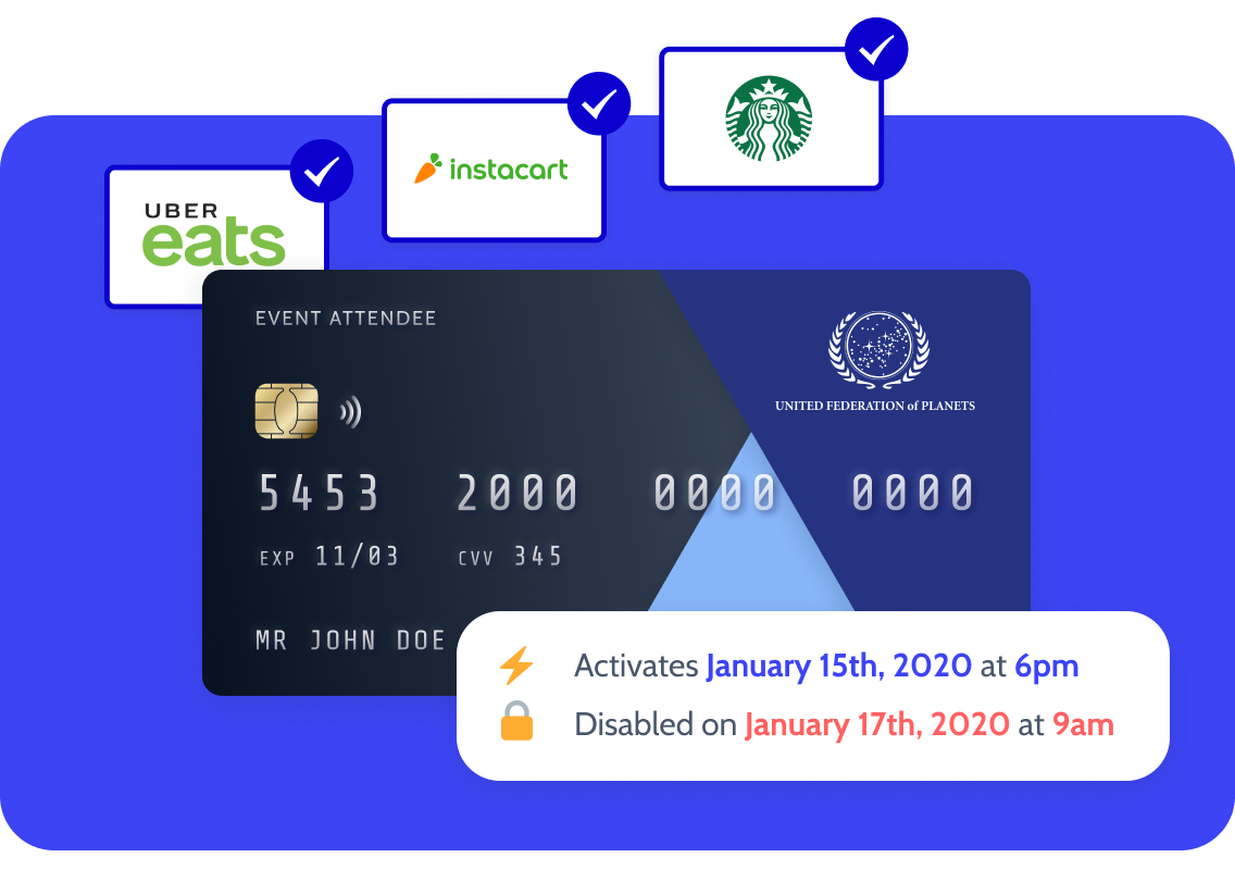 hoppier virtual spending card for virtual events and virtual meetings