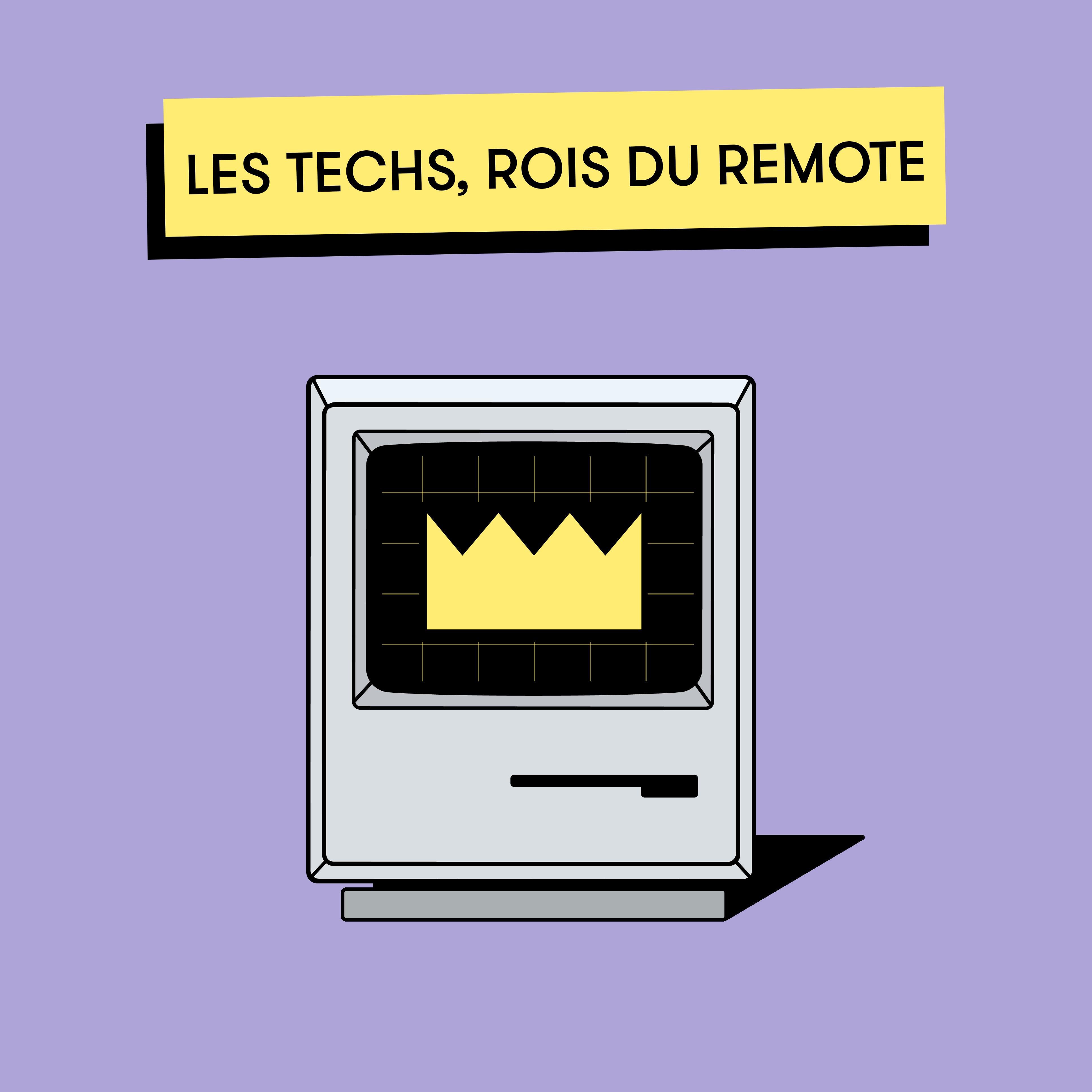 Télétravail et crise : les techs tirent mieux leur épingle du jeu !