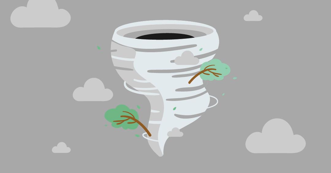 Illustration d'une tempête pour l'article d'Ignition Program sur les entreprises en temps de crise