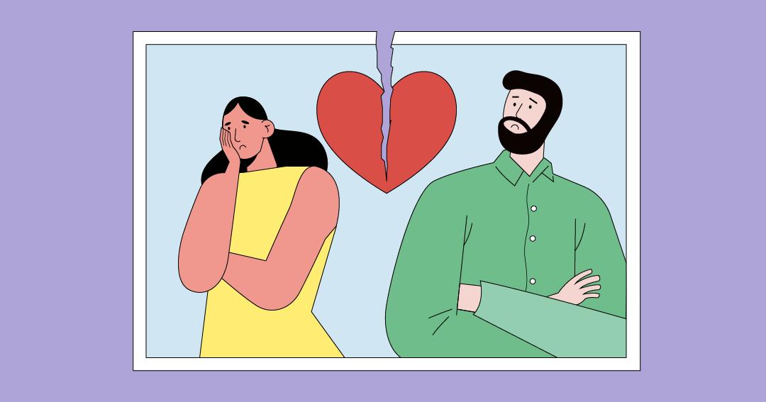 Illustration de rupture amoureuse pour illustrer l'offboarding raté.