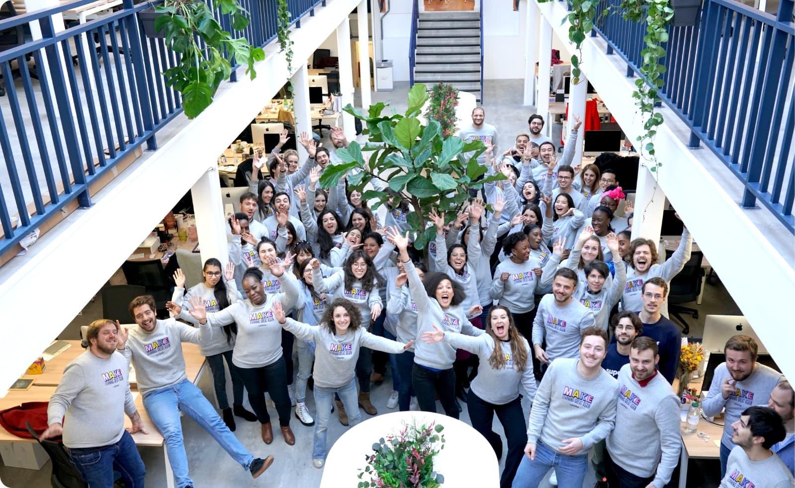 L'équipe de Superprof dans leurs locaux à Paris