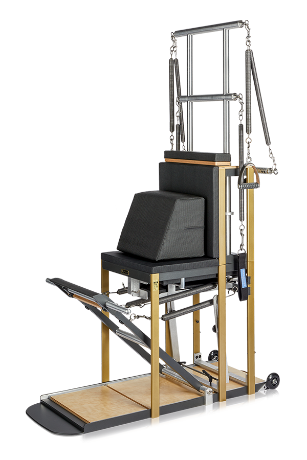DLP Equipment High-Back Chair Front Right Angle
