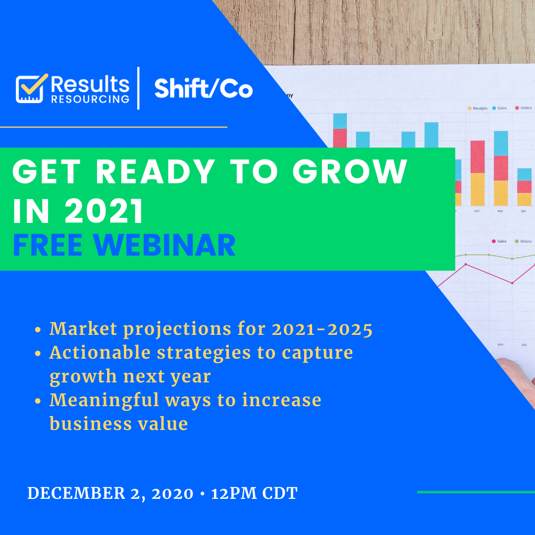 Business growth webinar hosted by Elizabeth Eiss of ResultsResourcing and serial entrepreneur, Terri Maxwell.