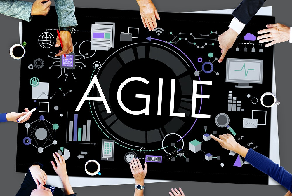 A small business surrounding the word agile suggesting business agility.
