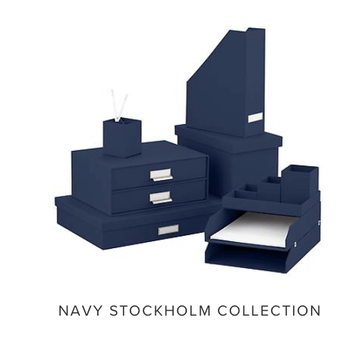Stacked set of desk organizers