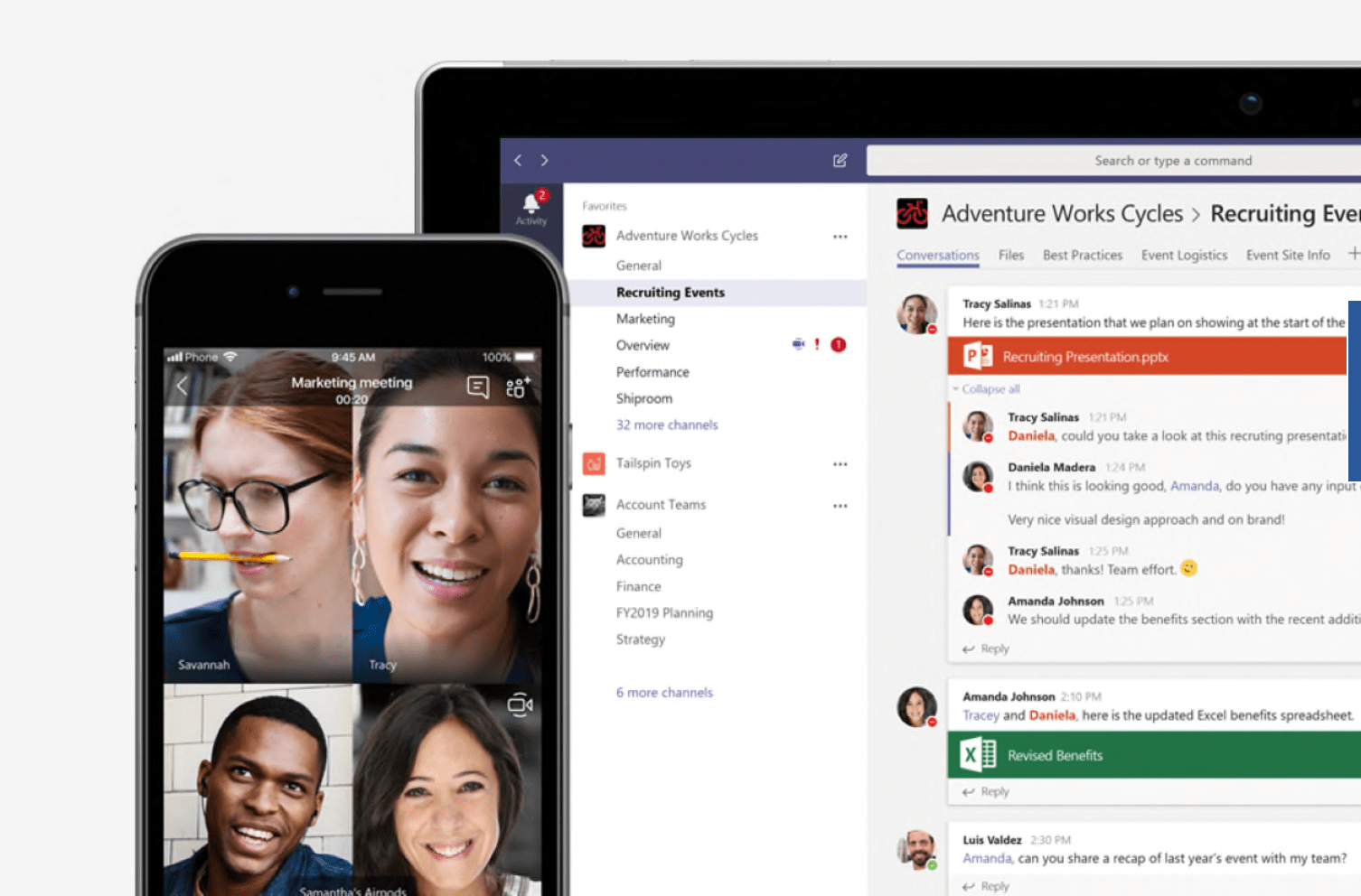 Microsoft Teams team communication tool breaks down topics into separate threads