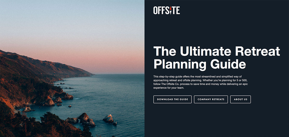 Offsite corporate retreat planning guide helps you organize your team retreat without lifting a finger.