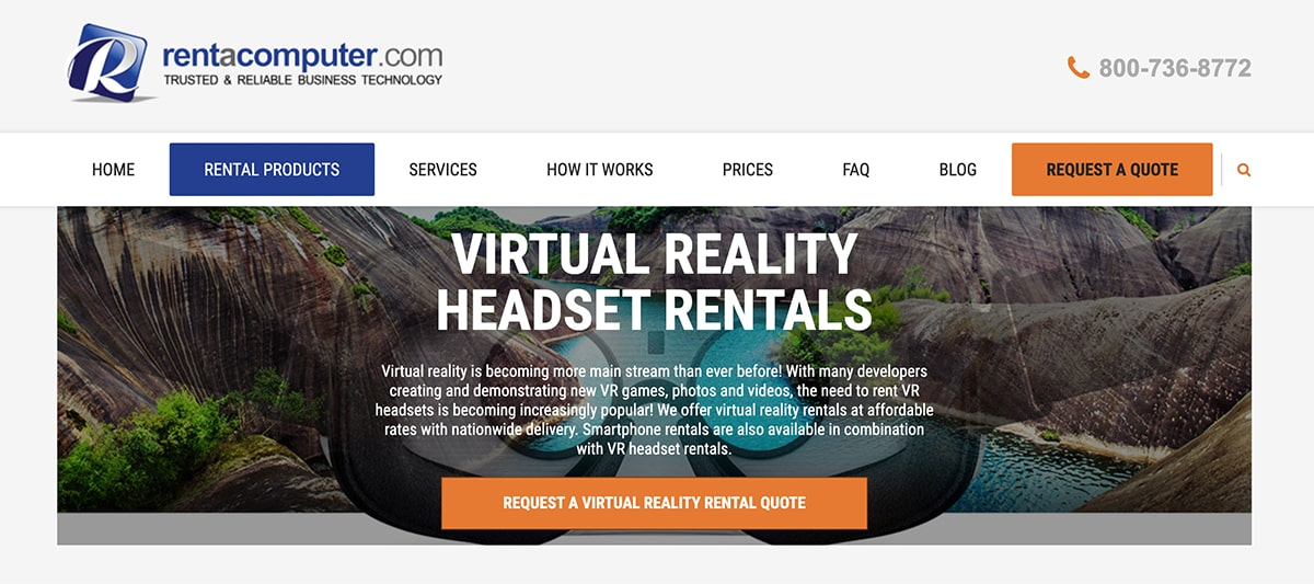 Virtual reality headset rentals for an office holiday party.