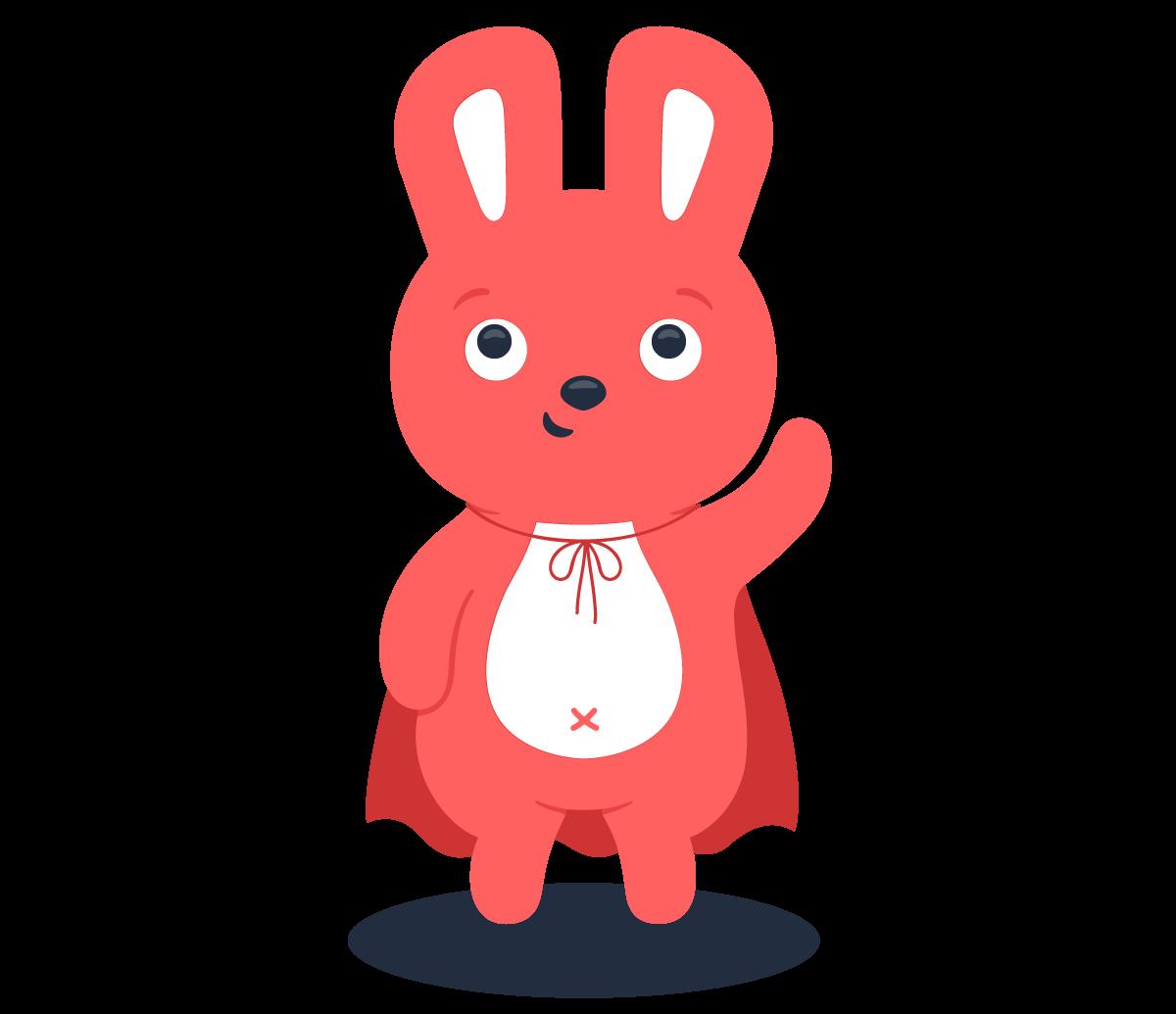 Hoppy bunny in a cape