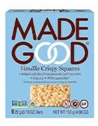 Box of vanilla crispy squares by Made Good