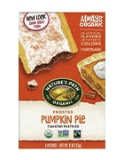 Box of frosted pumpkin pie toaster pastries by Nature's Path