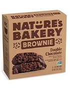 Box of double chocolate brownies by Nature's Bakery