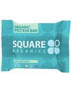 Square organics chocolate coated nuts and sea salt protein bar