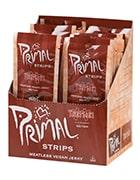 Box of Primal strips vegan jerky