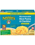 Box of Annie's Homegrown Gluten-Free Microwaveable Rice Pasta and Cheddar
