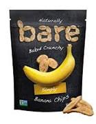 Bag of Naturally Bare Baked Crunchy Simply Banana Chips
