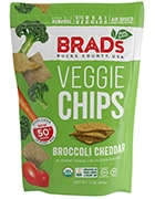 Bag of Brad's Bucks County, USA Veggie Chips Broccoli Cheddar