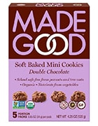 Box of MadeGood Soft Baked Mini Cookies Double Chocolate