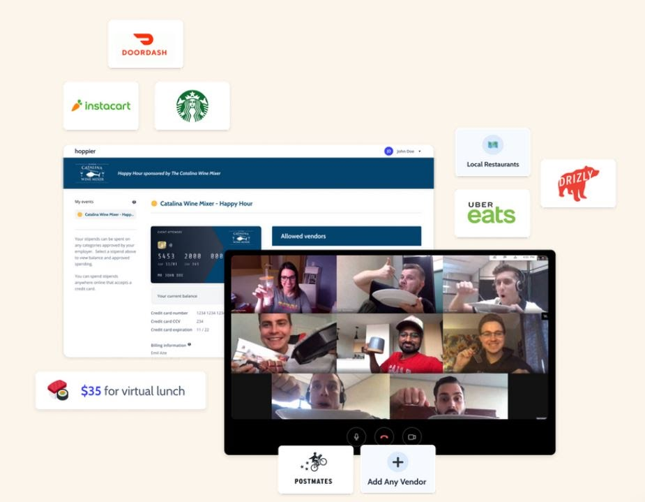 Hoppier's virtual sales kickoff experiences help businesses of all sizes celebrate and recognize employees
