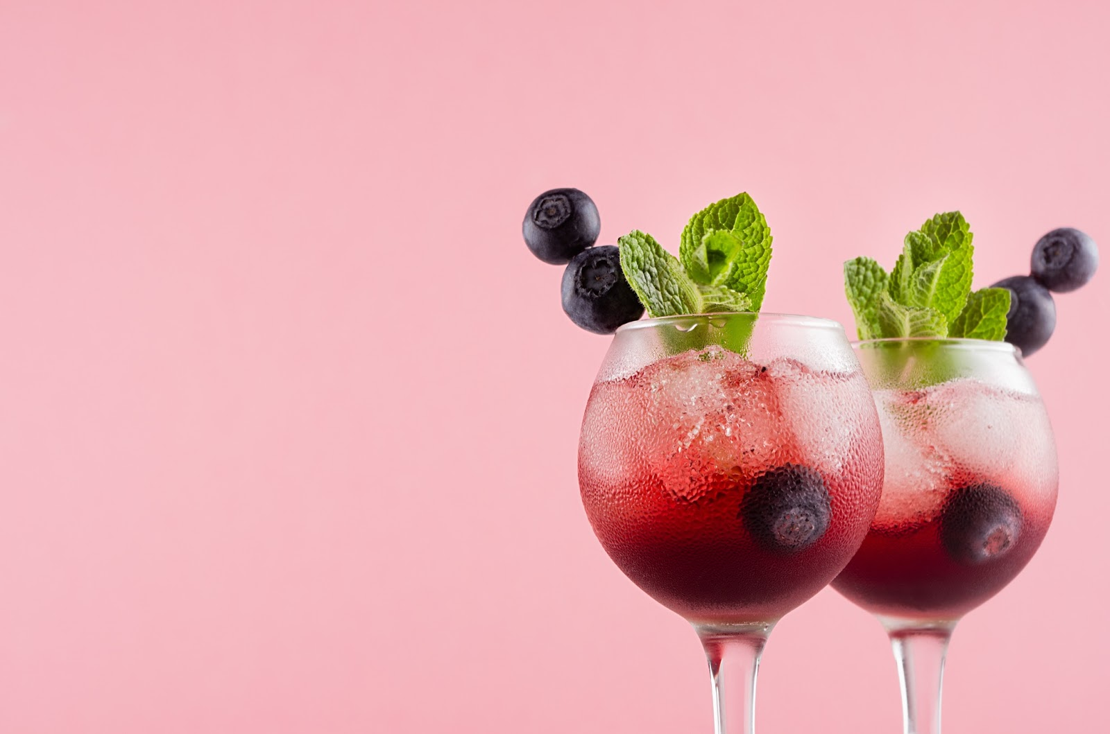 Two craft cocktails for a virtual happy hour