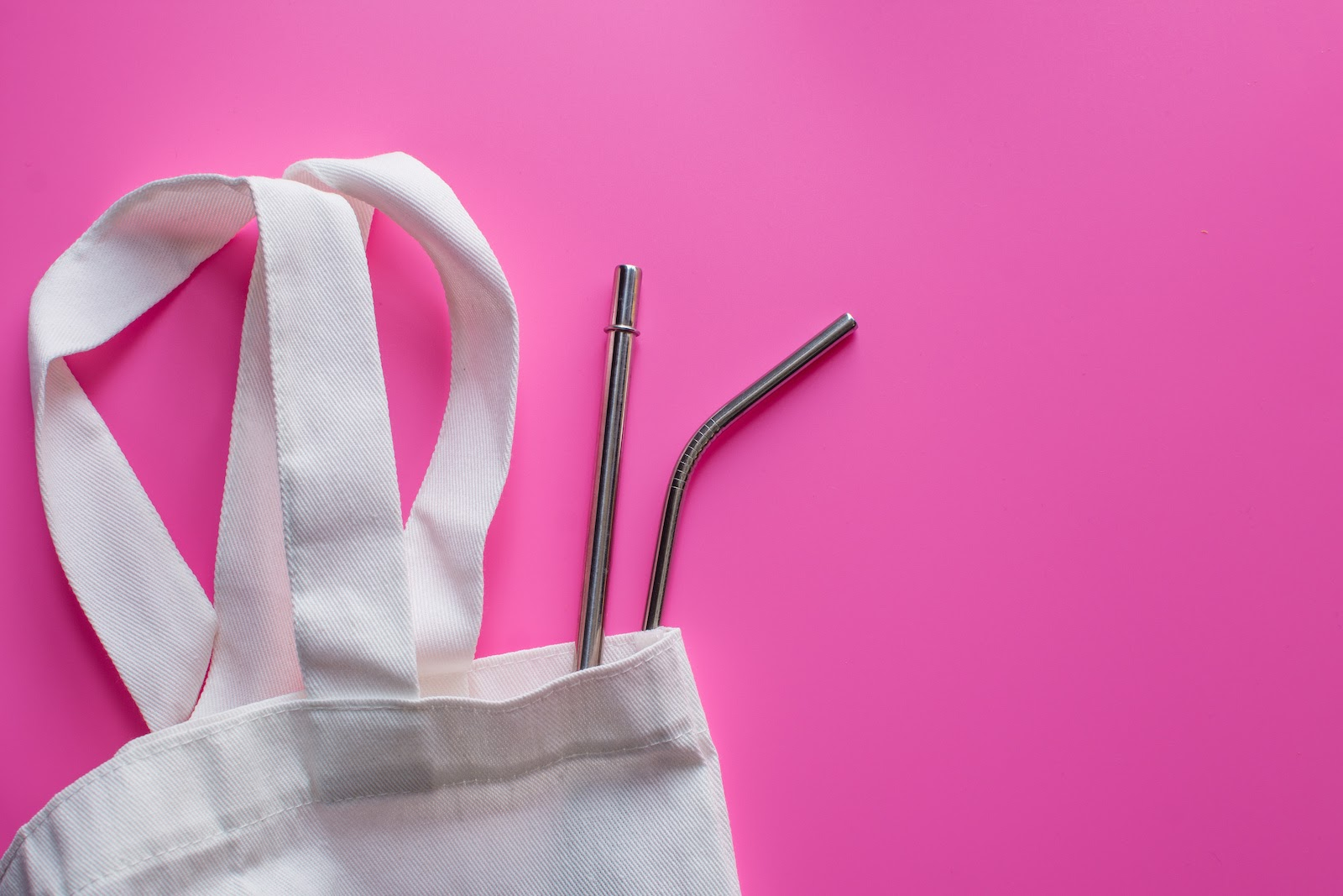Sustainability focused gifts of reusable bags and straws