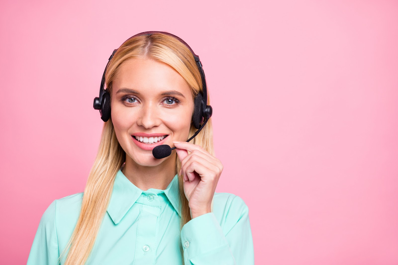 A customer service rep offers support for an event technology platform