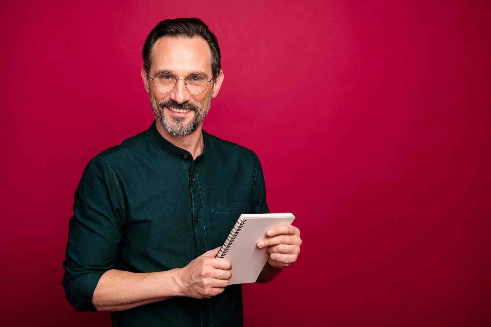 A man plans a virtual meeting etiquette policy